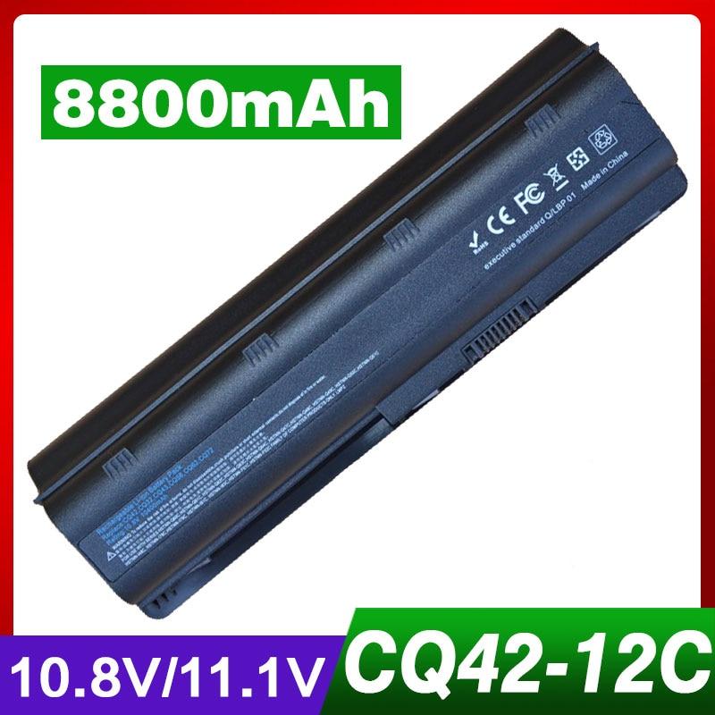 8800 mAh batterie d'ordinateur portable pour HP PAVILION DV7 DM4 DV3 DV5 DV6 G32 G62 G42 G6 G7 pour Compaq Presario CQ32 CQ42 CQ43 CQ56 CQ57 CQ62