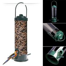 Пластиковый подвес кормушка для диких птиц контейнеров садовая