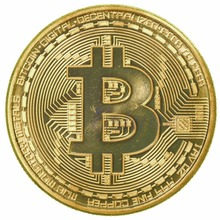 1 x Gold Plated Bitcoin Coin Collectible Gift BTC Coin Art Collection Physical-P101(China)