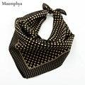 Moompya 2017 Spring Men's Fashion street style Trends print Dots black monochrome patterned bandana silk neckerchiefs 50*50CM