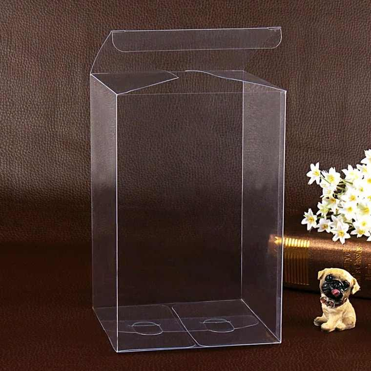 7*7*12cm Large Shipping box pvc transparent packaging, long clear plastic cosmetic box packaging,Plastic Folding Boxes
