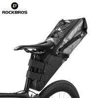 ROCKBROS Su Geçirmez Bisiklet Eyer Çantası Bisiklet Katlanabilir Kuyruk Arka Koltuk Çanta MTB Bagaj Pannier Sırt Çantası Aksesuarları Yüksek kapasiteli 10L