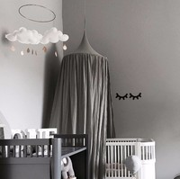 Beige White Grey Pink Kids Boys Girls Princess Canopy Bed Valance Kids Room Decoration Baby Bed