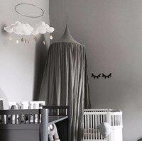 Bej Beyaz Gri Pembe Çocuk Boys Kız Prenses Gölgelik Yatak Valance Çocuk Odası Dekorasyon Bebek Yatağı Yuvarlak Cibinlik Çadır perdeler