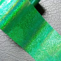 Wholesale Laser Green Starry Dust Nail Transfer Film Glitter Pattern DIY Nail Art Tips Holographic Nail
