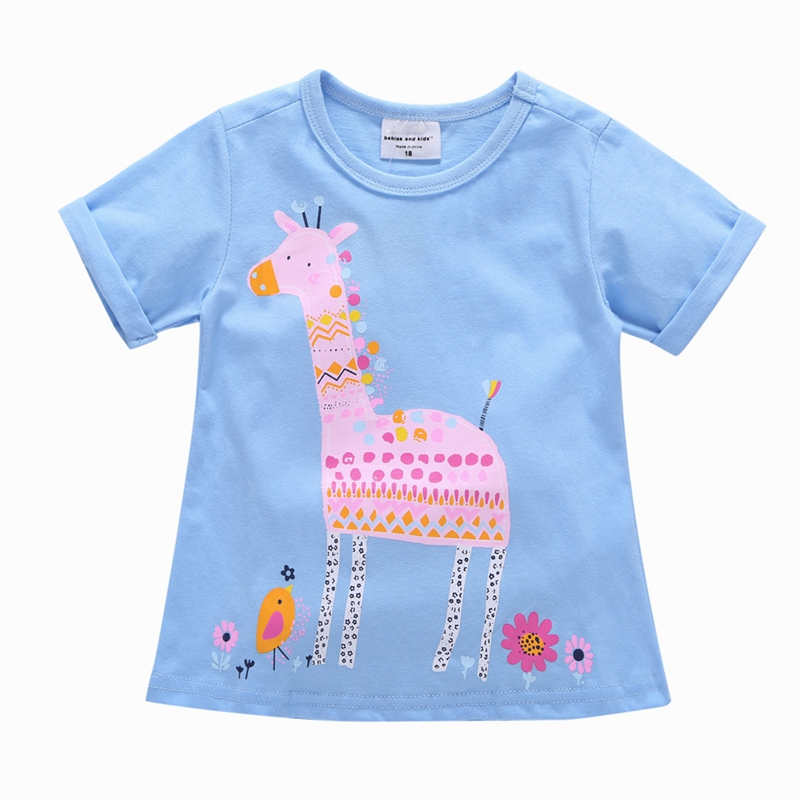Fashion 2017 Children's T Shirt Baby Girls Summer Style Clothing Little Girl Cotton Short Sleeve T-shirt Tee Tops Cartoon Shirts