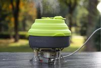 ALOCS CW K05 Outdoor Camping Cookware Kettle Multifunctional Kettle Whistle Silicone Cover