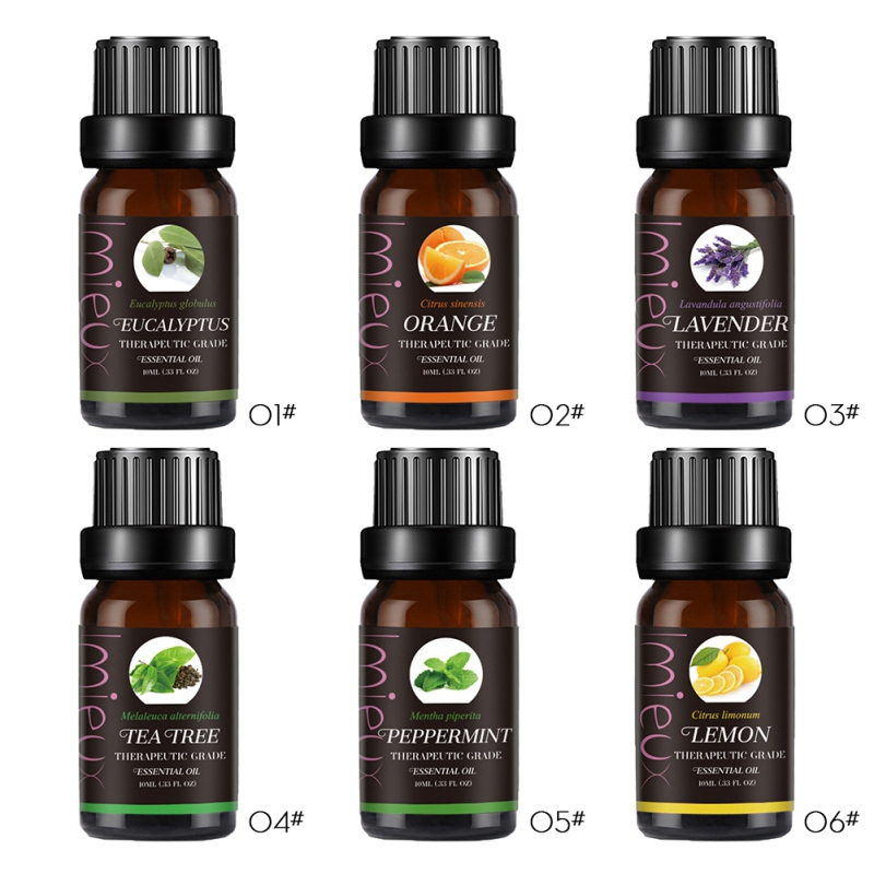 New 10ml Essence Oil For Aromatherapy Diffusers Pure Natural Essential Oils Organic Body Relax Relive Skin Care Help Sleep