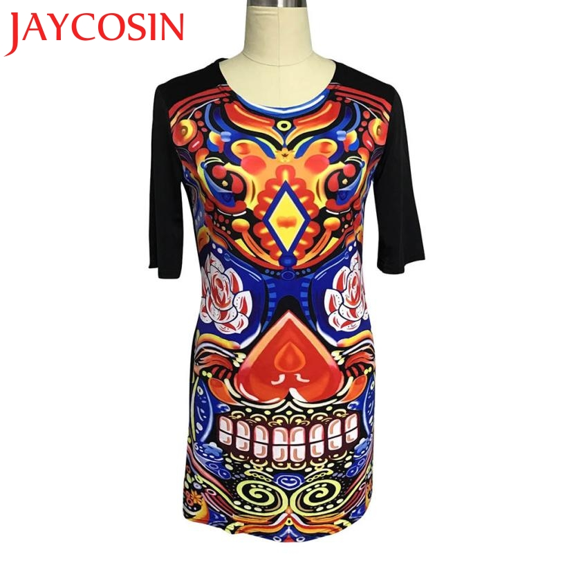 Dresses Vestidos 2017 New Fashion Women Summer Spring Vintage Printed Short Sleeve Slim Party Dress Cheap clothes China 426