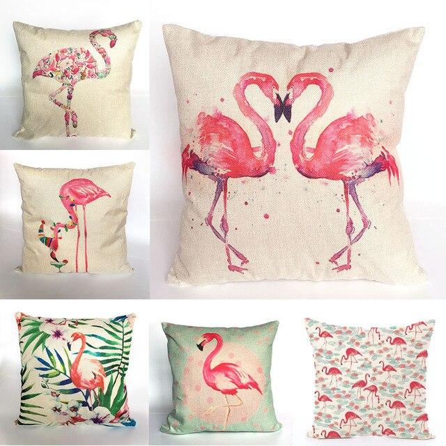 Animal Pink Flamingo Owl Cushion Cover Pillow Covers Sofa Car Home