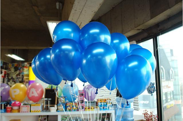 Free Shipping 100pc/Lot 10′ Inch1.2g  Dark Blue Balloon  New 2014  Baby Shower  Birthday Party  Wedding Decoration Balloon