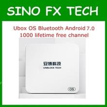 Unblock UBOX5 UBOX PRO OS I900 1GB 16GB Android 7.0 Smart TV Box 1000 free channels for JP SG NZ KR MY AU CA US HK ID цены