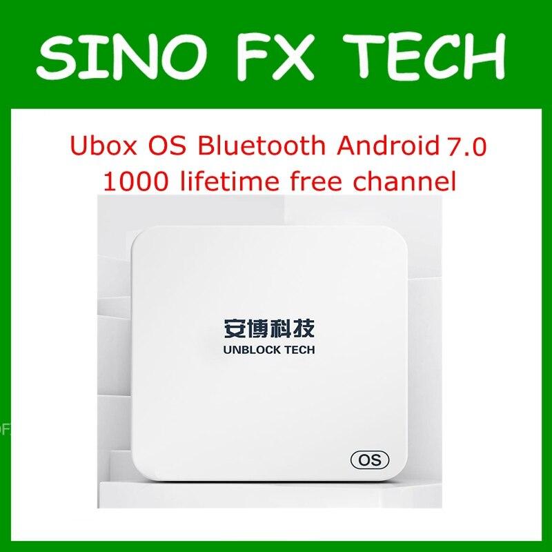 Unblock UBOX5 UBOX PRO OS I900 1GB 16GB Android 7.0 Smart TV Box 1000 free channels for JP SG NZ KR MY AU CA US HK ID