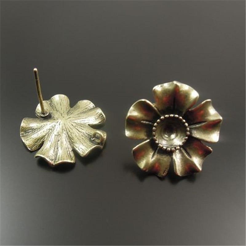 Цветок серьги
