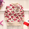 Hot New Children Baby Clothing Boys Girls Lovely Flowers Furry White Coat Thick Sweater Coat Q184