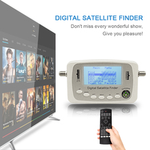 SF-500 Numérique Satellite Finder Signal Meter Finder SF500 DVB-S DVB-S2 Satellite Finder Plat avec Boussole