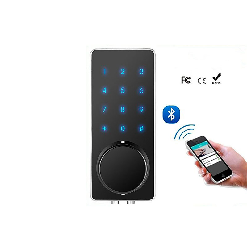 Smart Phone Wireless Door Lock Bluetooth Lock with Touch Screen Password raykube bluetooth electronic lock with password code app mobile phone opening touch screen smart door lock r x01