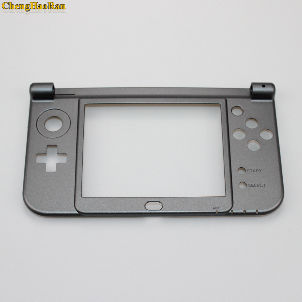 ChengHaoRan 1pcs White Replacement housing shell cover case Bottom Middle Frame for New 3DS XL / 3DS LL 2015 Version repair part