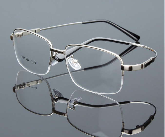 Men's Half-rim Finished Myopia Glasses Nearsighted Glasses Prescription Glasses For Men Eyewear Ultra-light -0.50 To -6.00