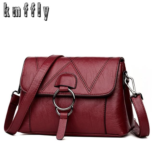 2c35fbf694 KMFFLY sacs à Main en cuir de luxe femmes sacs Designer marque femme  bandoulière sacs à