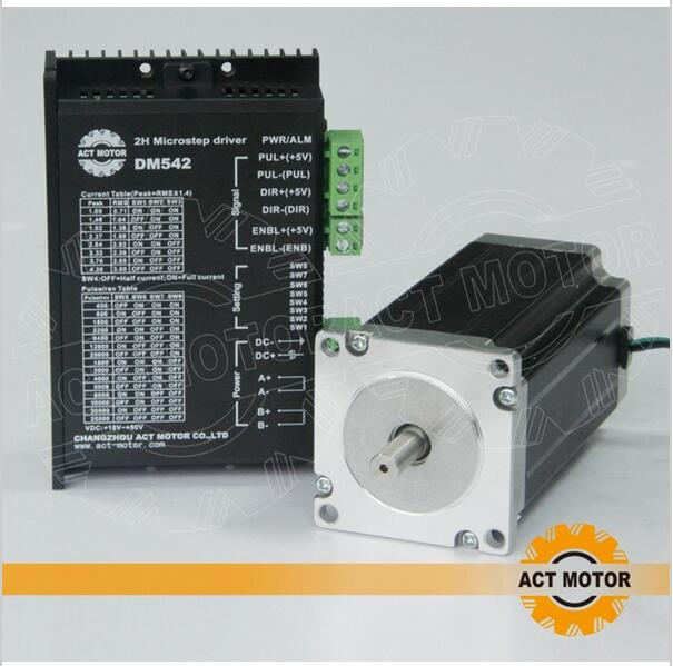 ACT Motor 1PC Nema 23 Stepper Motor Single Shaft 23HS2430 3A 425oz-in 112mm+1PC Driver 4.2A 50V 128Microsteps US DE UK CA FreeACT Motor 1PC Nema 23 Stepper Motor Single Shaft 23HS2430 3A 425oz-in 112mm+1PC Driver 4.2A 50V 128Microsteps US DE UK CA Free