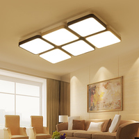 NEW Rectangle LED Ceiling Chandeliers For Living Study Room Square Modern LED Chandeliers Lamp Fixtures For
