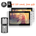 """Home Security Wired 7"""" Color Screen Recording Video Intercom Door Phone 2 Monitor + Rainproof Metal Outdoor Camera Free Shipping"""