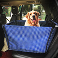 Washable Double Layer Waterproof Pet Dog Cat Safe Safety Travel Hammock Car Bed Seat Cover Mat Blanket Blue/Gray/brown