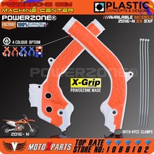 Powerzone X-Grip Рамки гвардии защитная крышка для KTM SX125 150 sxf250 350 450 для HUSQVARNA tc125 FC fe 250 350 450 2016 17
