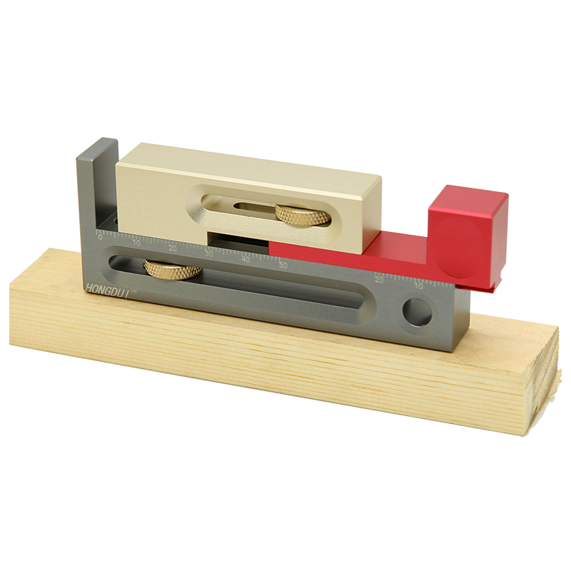 Movable Saw Mortise Regulator Block The Woodworking Slot Tool Length And Table Gap Compensation Slot Tenon Ruler Measuring Make
