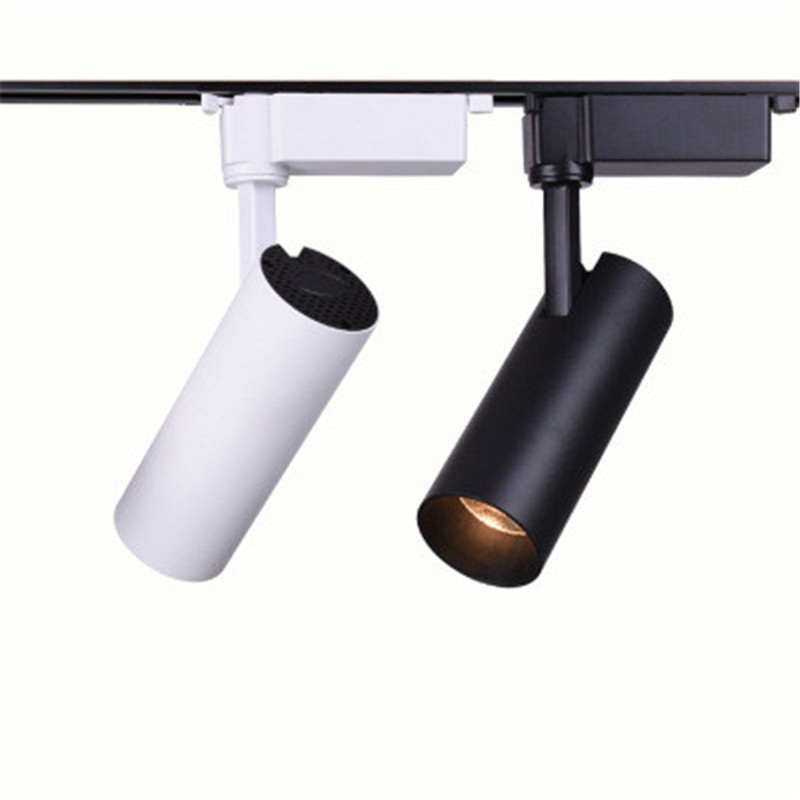 Black/white LED COB Track Rail Light 20W/30W Adjustable