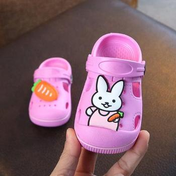 2-5y Kids Mules & Clogs Summer Baby Boys Girls Croc Sandals Flat Heels Rabbit Turnip Slippers Children's Garden Shoes Y17 - as picture, 25