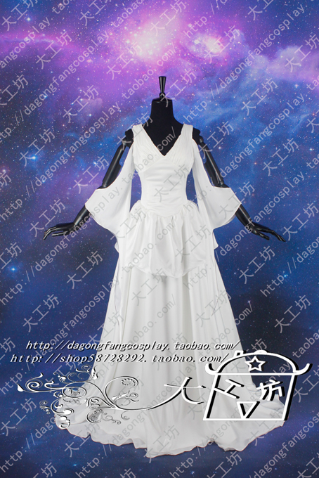 US $82 0  Saint Seiya The Lost Canvas Sasha(Athena) Cosplay Costume White  Dress on Aliexpress com   Alibaba Group