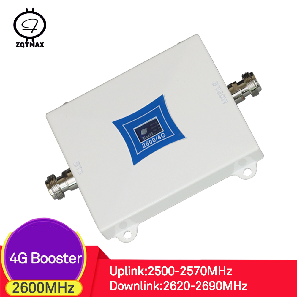 ZQTMAX 4g Mobile Signal Booster 2600mhz For Mobile Cell Phone Internet 2600 LTE Cellular Amplifier 4g Repeater