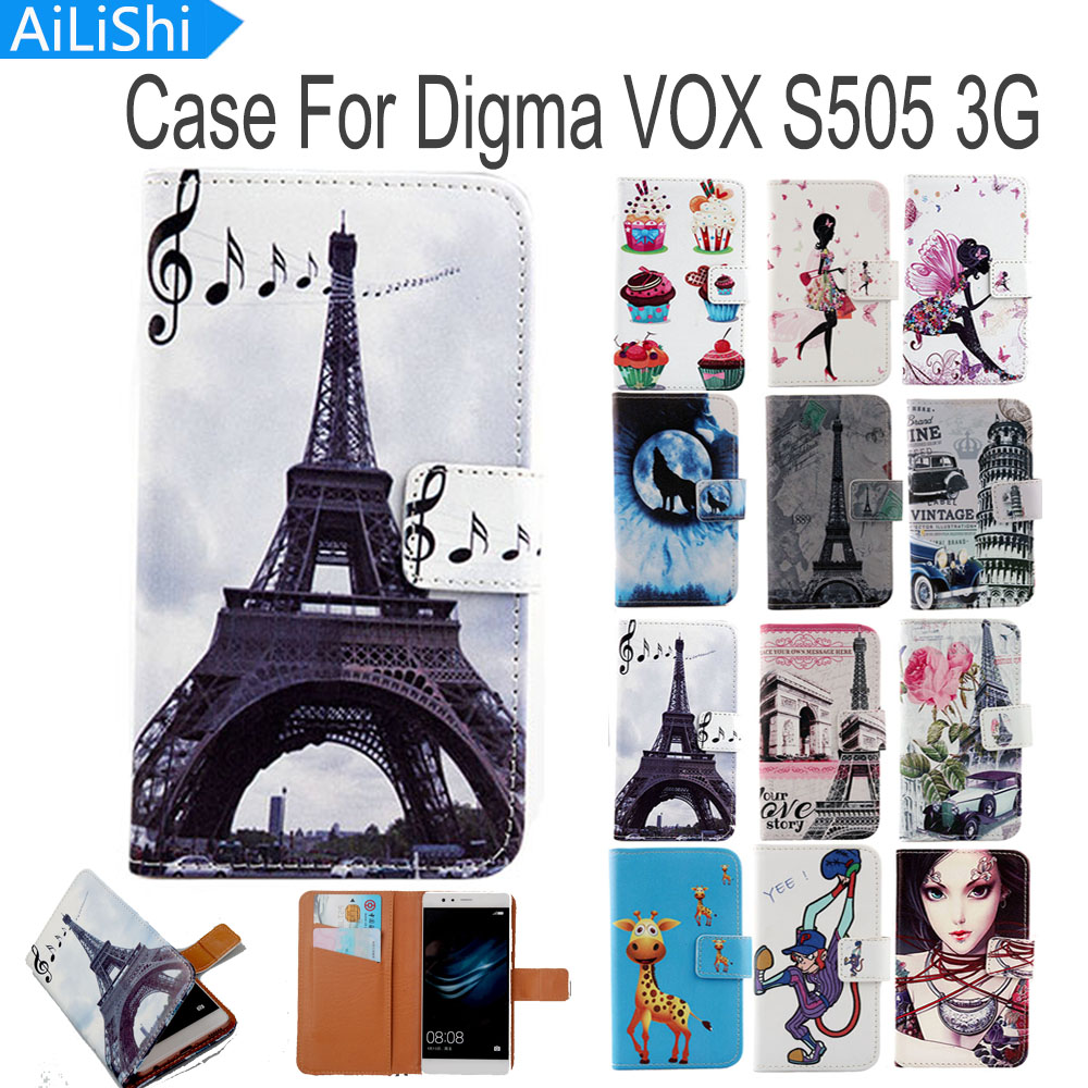 Phone Bags & Cases Useful Ailishi Flip Pu Leather Case For Digma Vox S505 3g Case Fashion Cartoon Painted Protective Cover Skin In Stock Commodities Are Available Without Restriction Flip Cases