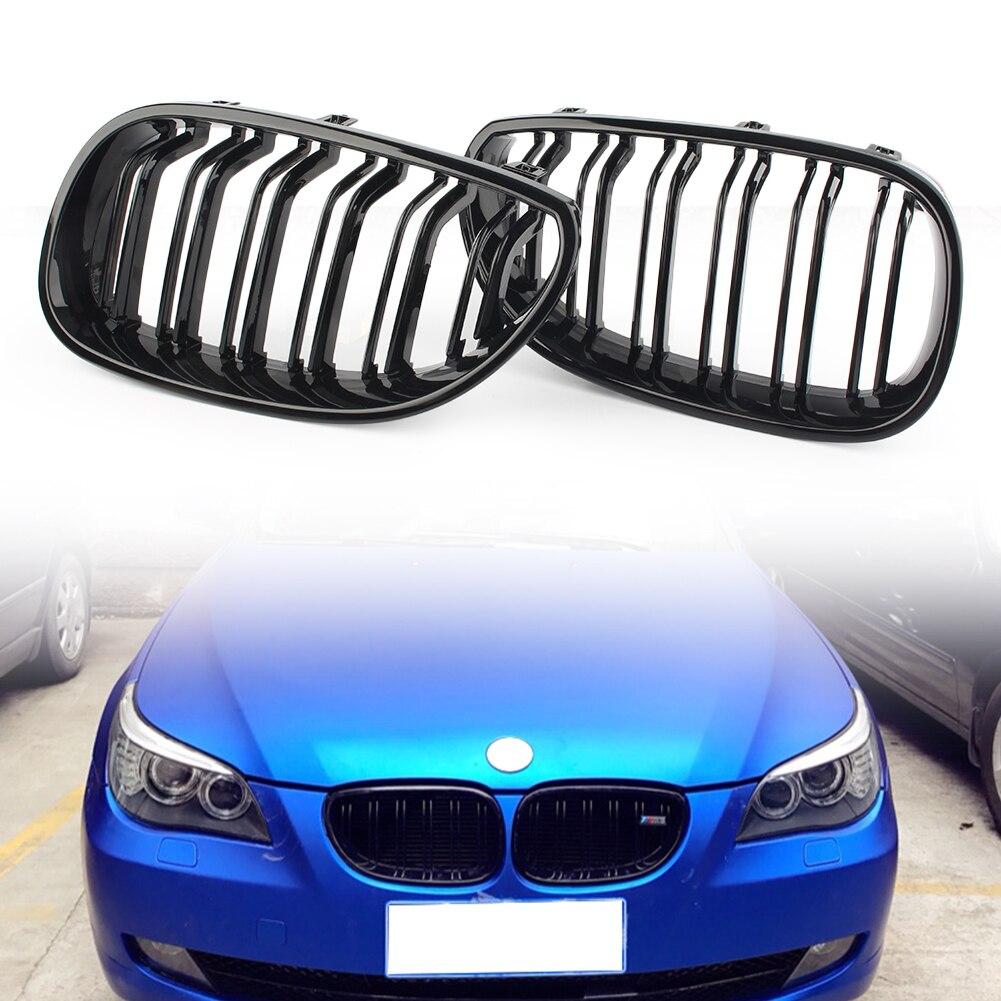 Grille de calandre en plastique ABS noir brillant pour capot avant pour BMW série 5 M5 E60 E61 2003 2004 2005 2006 2007 2008 2009
