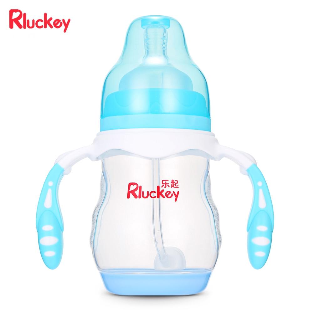 Rluckey 210ml Baby Nursing Bottle Wide Caliber Thermal ...