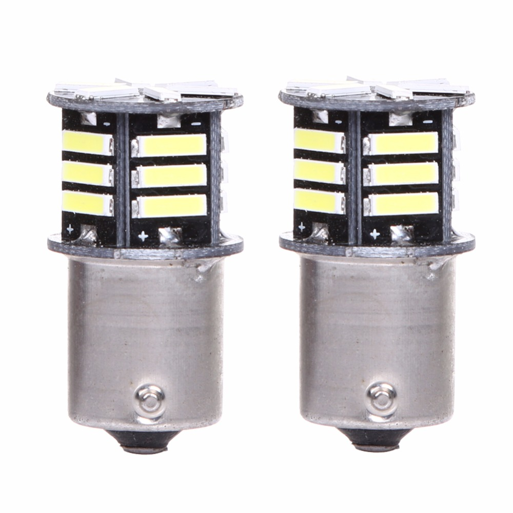 2Pcs Car LED Light Canbus No Error Tail Backup Reverse Lamp Auto Turn Signal/Fog/Side Marker Emblem Lamp Bulb BA15S 1156 7506 wljh 2x canbus 20w 1156 ba15s p21w led bulb 4014smd car backup reverse light lamp for bmw 228i 320i 328d 328i 335i m3 x1 x4 2015