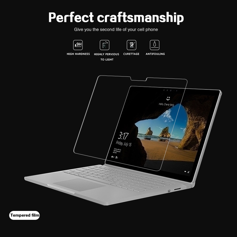 Anti-shatter Tempered Glass Film For Microsoft Surface Book 2 13.5