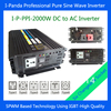 Freeshipping Remote Control Home Use DC To AC 2000W Pure Sine Wave Power Inverter Off Grid