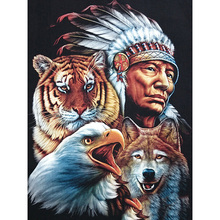 Full Square/Round Drill 5D DIY Diamond Painting Indian animals Embroidery Cross Stitch  Home Decor Gift