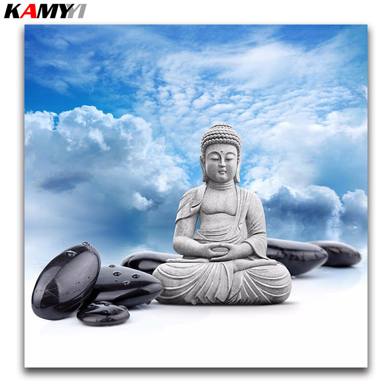 5D Diy Diamond Painting Buddha stone picture 3D diamond Embroidery Cross Stitch kits Full Diamond Mosaic pattern landscape gift5D Diy Diamond Painting Buddha stone picture 3D diamond Embroidery Cross Stitch kits Full Diamond Mosaic pattern landscape gift