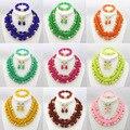 Chunky Coral perlas africanas joyería de boda nigeriano Pink Beads africanos joyería nupcial conjunto envío gratis CJ260