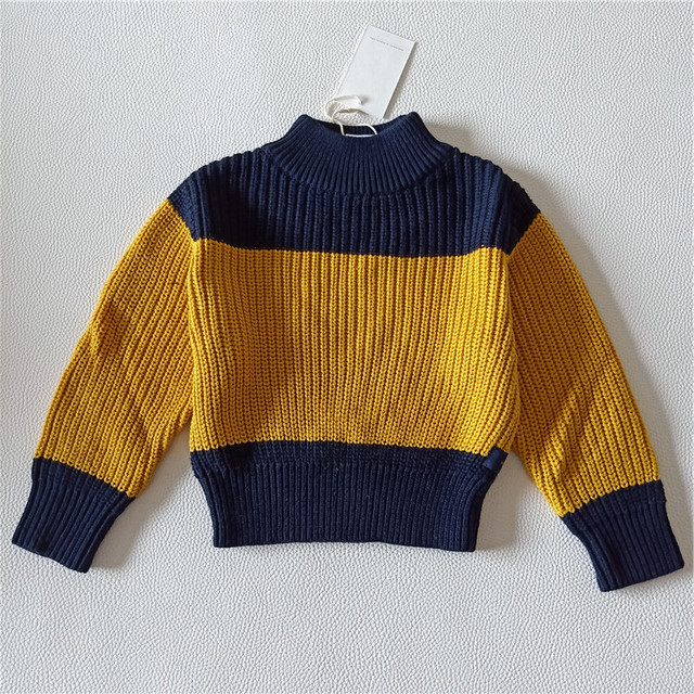 8984a4a3e114 BOBOZONE Black Yellow 2 colors Patchwork knited for kids boys girls baby  sweater