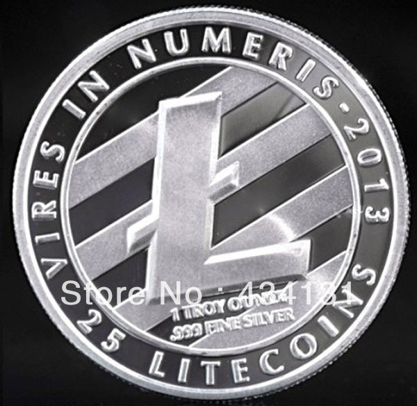 FREE SHIPPING $9/2pcs Physical Litecoin LTC Collectable Real
