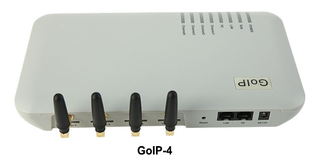 Passerelle voip gsm GoIP_4 ports/passerelle gsm Voip/passerelle ip gsm GoIP4 compatible SIP/H.323/-GOIP4-meilleure vente en gros