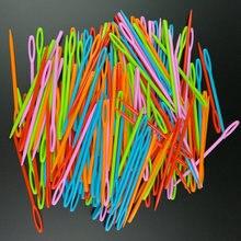 100 sztuk/partia 9cm szycia dzianiny Bodkin igły do szycia plastikowe bezpieczne szew ręcznie druty do robienia na drutach splot przyrządy do szycia hurtownie