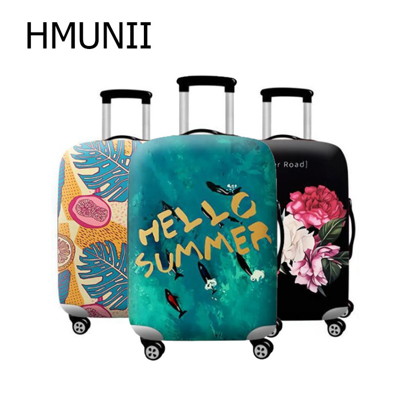 HMUNII Travel Suitcase Protective Cover Luggage Case Travel Accessories Elastic Luggage Dust Cover Apply To 18''-32'' Suitcase
