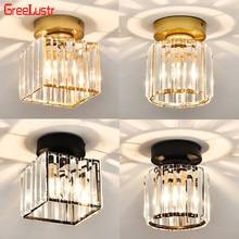 Скандинавский Хрустальный светодиодный потолочный светильник, светильники, золото/черный, E27, хрустальные плафоны, люстры для гостиной, потолочный светильник, украшение дома