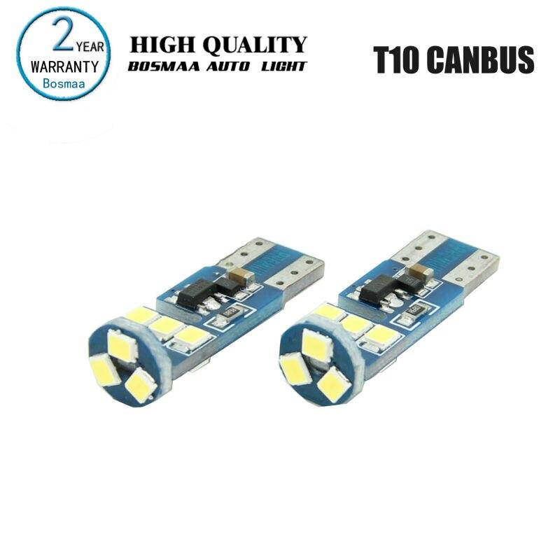 10 pièces Bosmaa Canbus T10 168 194 2825 W5W ampoule LED pour feux de Position de stationnement ou feux de plaque d'immatriculation largeur lumières ampoules de voiture